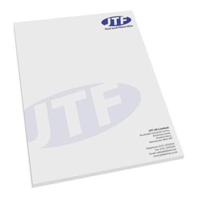Image of Branded A4 (210x297mm) Note Pad