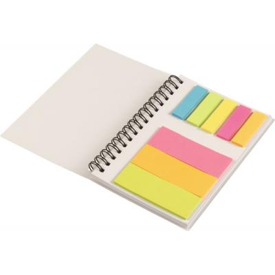 Image of Frosted Cover Notebook with sticky notes