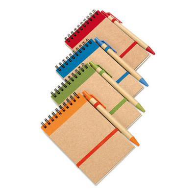 Image of Custom Recycled paper notebook and pen