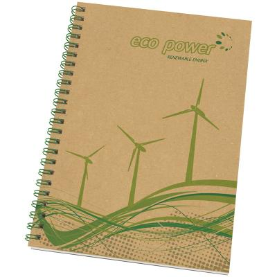 Image of Recycled Enviro-Smart A5 Card Cover Wiro Notepad