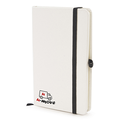 Image of Custom White Hard Back Notepad A6