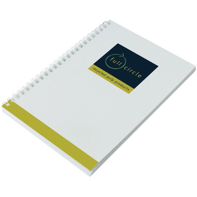 Image of Recycled Enviro-Smart White Cover Notepad A5