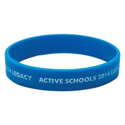 Image of Low Cost Silicone Wristband - Adult: Recessed & Infilled Design