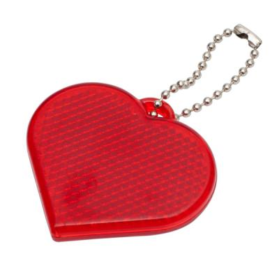 Image of Heart Hard Reflective Keyrings