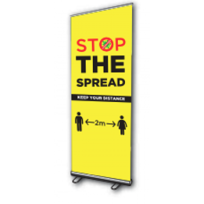 Image of Stop The Spread - Roller Banner