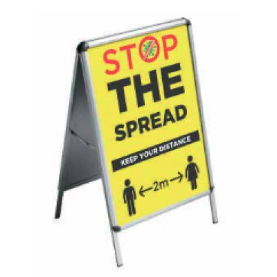 Image of Stop The Spread - A-Frame Sign