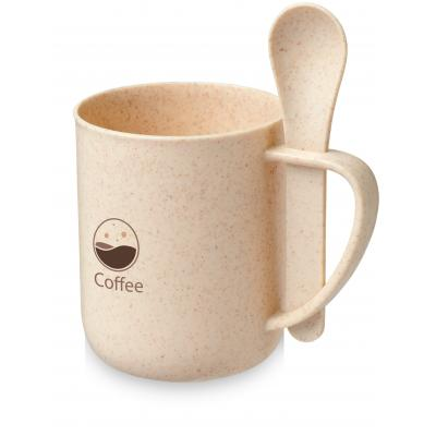 Image of Rye Wheat Straw Mug with Spoon