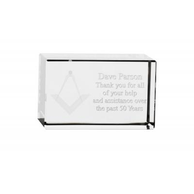 Image of 8cm x 5cm x 5cm Optical Crystal Rectangle