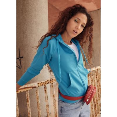 Image of Fruit Of The Loom Lady-Fit Lightweight Hooded Sweat Jacket