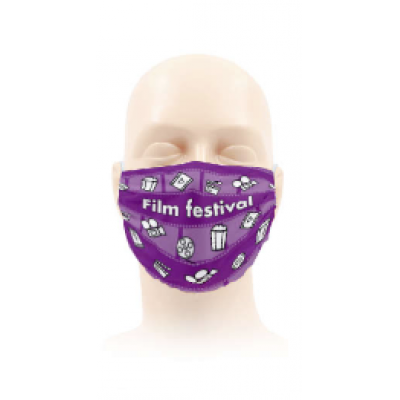 Image of Face mask with Full Colour Print. Your Logo printed. Low minimum order available